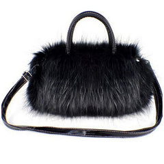 Womans Faux Rabbit Fur Handbag - BoardwalkBuy - 1