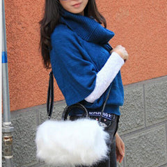 Womans Faux Rabbit Fur Handbag - BoardwalkBuy - 3