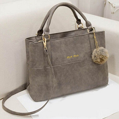 Womans Hairball decoration Handbags