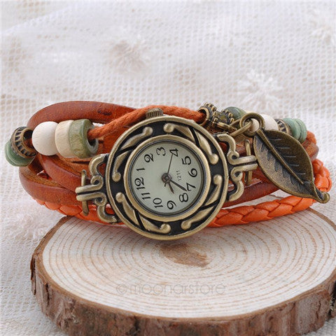 Women Angel Wing Pendant Vintage Watches