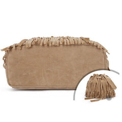 Women Faux Suede Fringe Tassel Handbag - BoardwalkBuy - 6