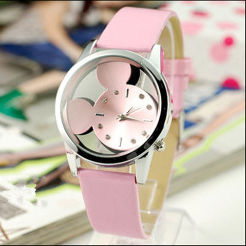 Women  Mickey transparent  Watches