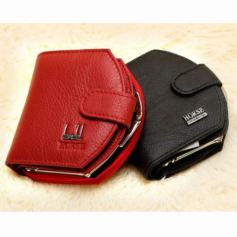 Women Mini Clutch Leather Wallet