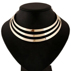 Women Multilayer Statement Punk Necklace - BoardwalkBuy - 2