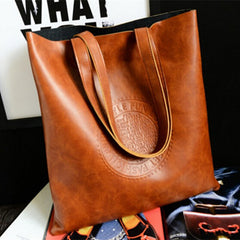 Women PU Matte Leather Scrub Handbag - BoardwalkBuy - 8