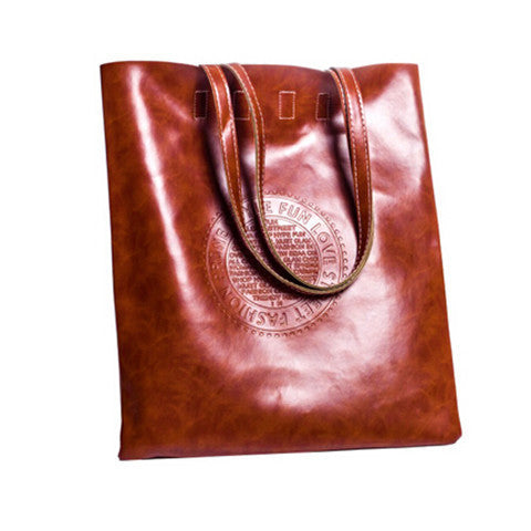 Women PU Matte Leather Scrub Handbag - BoardwalkBuy - 1