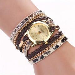 Women Woven Leopard  Bracelet Watches - BoardwalkBuy - 3