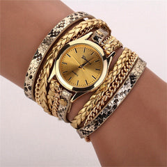 Women Woven Leopard  Bracelet Watches - BoardwalkBuy - 5