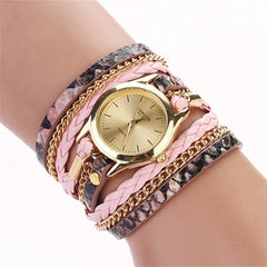 Women Woven Leopard  Bracelet Watches - BoardwalkBuy - 7