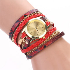 Women Woven Leopard  Bracelet Watches - BoardwalkBuy - 4