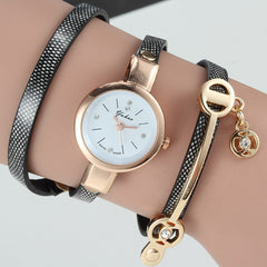 Women Wrist Quartz Leather Strap Watch - BoardwalkBuy - 2