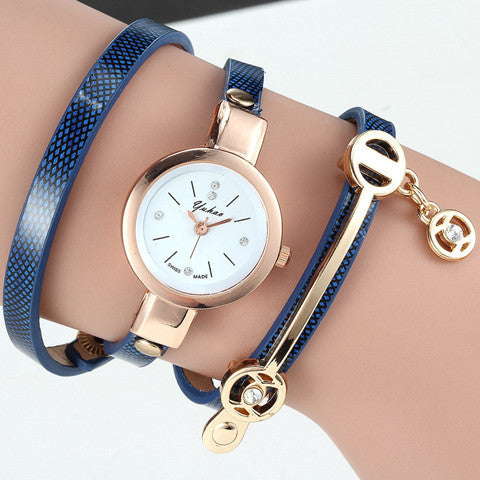 Women Wrist Quartz Leather Strap Watch - BoardwalkBuy - 1