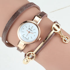 Women Wrist Quartz Leather Strap Watch - BoardwalkBuy - 5