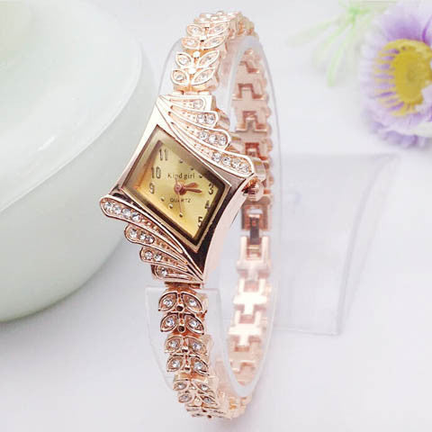 Women's Crystal Rhinestone Alloy Stainless Steel Analog Quartz Wrist Watch - BoardwalkBuy - 1