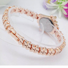 Women's Crystal Rhinestone Alloy Stainless Steel Analog Quartz Wrist Watch - BoardwalkBuy - 3