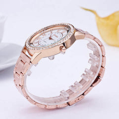 Women's Crystal Rhinestone Stainless Steel Analog Quartz Wrist Watch - BoardwalkBuy - 3