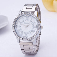 Women's Crystal Rhinestone Stainless Steel Analog Quartz Wrist Watch - BoardwalkBuy - 4