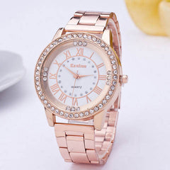 Women's Crystal Rhinestone Stainless Steel Analog Quartz Wrist Watch - BoardwalkBuy - 6