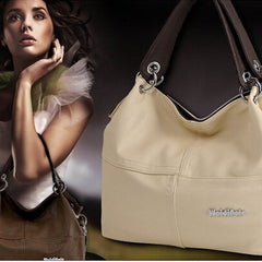 Women's Leather Shoulder Handbag - BoardwalkBuy - 2