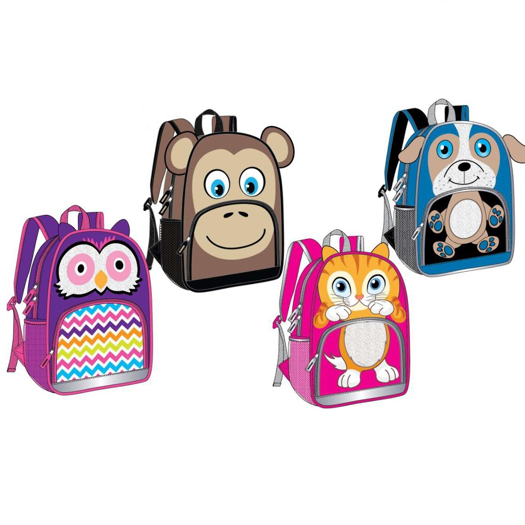 Animal Design Backpack - Assorted - BoardwalkBuy