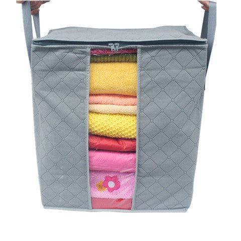 Natural Bamboo Fiber Storage Bag & Laundry Basket