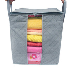 Natural Bamboo Fiber Storage Bag & Laundry Basket - BoardwalkBuy - 1