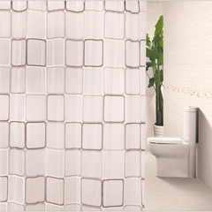 Waterproof Shower Curtain - Big Square Design - BoardwalkBuy - 2