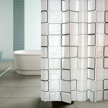 Waterproof Shower Curtain - Big Square Design