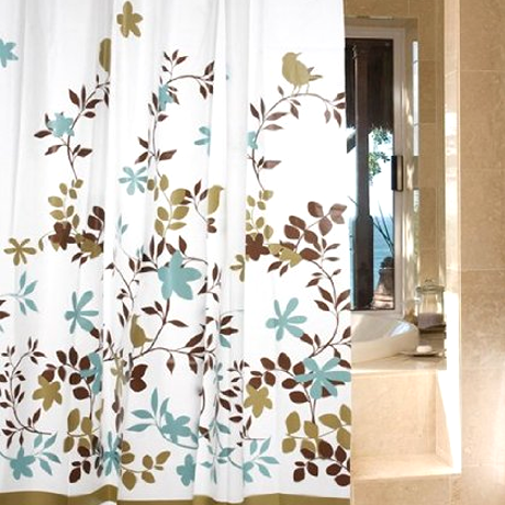 Waterproof Shower Curtain - Bird Design - BoardwalkBuy