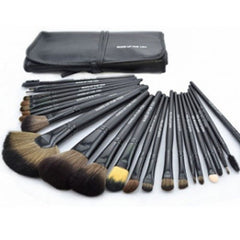 24-Piece Set: Professional Makeup Brush Kit with Roll-Up Carrying Case - Assorted Colors - BoardwalkBuy - 9