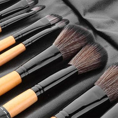 24-Piece Set: Professional Makeup Brush Kit with Roll-Up Carrying Case - Assorted Colors - BoardwalkBuy - 7