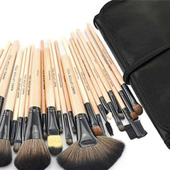 24-Piece Set: Professional Makeup Brush Kit with Roll-Up Carrying Case - Assorted Colors - BoardwalkBuy - 6