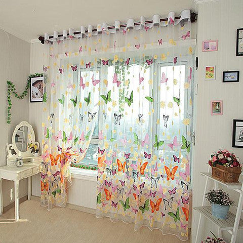 Butterfly Window Curtains - BoardwalkBuy - 1