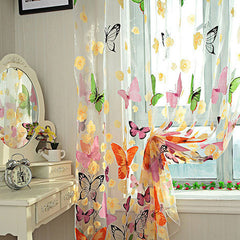 Butterfly Window Curtains - BoardwalkBuy - 2