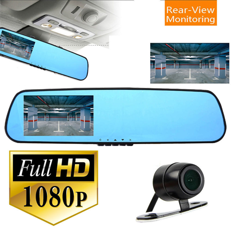 HD Dual Lens Front Car DVR and Rear view Camera - BoardwalkBuy - 1