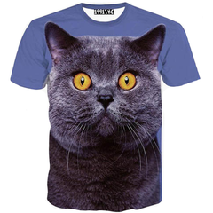 3D Print Yellow-Eyed Cat T-Shirt