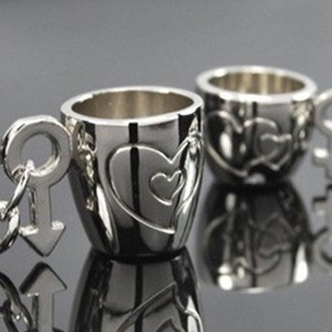 Lovers Cup Keychain