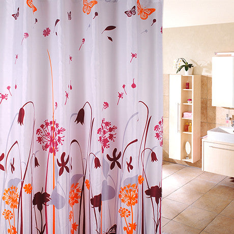 Waterproof Shower Curtain - Dandelion Design - BoardwalkBuy