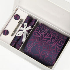 Premium Accessories Gift Box with Tie, Cuff Links, Hankie & Tie Clip - BoardwalkBuy - 14