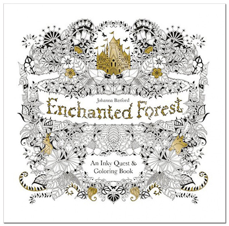 Enchanted Forest: An Inky Quest & Coloring Book - BoardwalkBuy - 1
