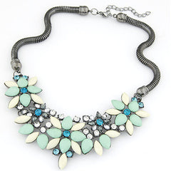 Fabric Acrylic Resin Flower Necklace - BoardwalkBuy - 6
