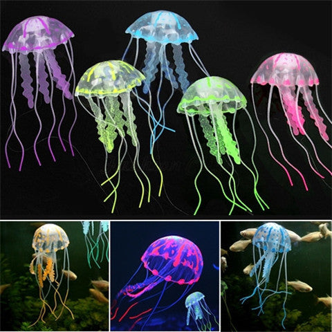 Glowing Jellyfish Fish Tank Decoration