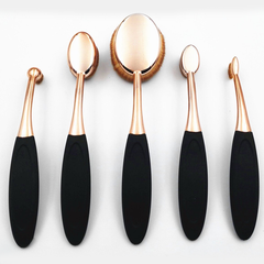 10 Piece Black and Gold Oval Brush Set - BoardwalkBuy - 4