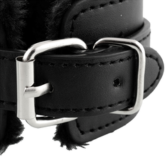 Black PU Leather Handcuff Restraints - BoardwalkBuy - 4