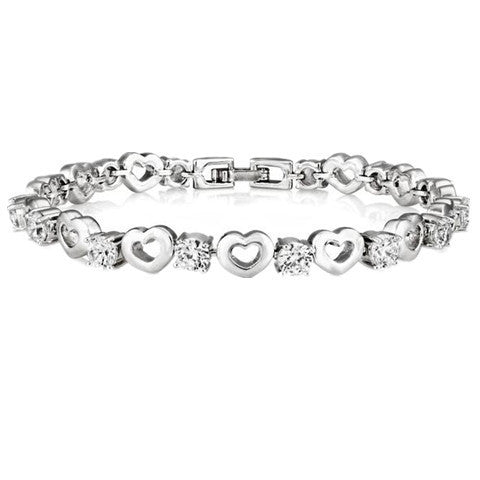 Heart Bracelet Made with SWAROVSKI ELEMENTS - BoardwalkBuy - 1