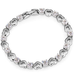 Heart Bracelet Made with SWAROVSKI ELEMENTS - BoardwalkBuy - 2
