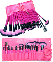 Hot Pink 24 Piece Make Up Brush Set - BoardwalkBuy - 1