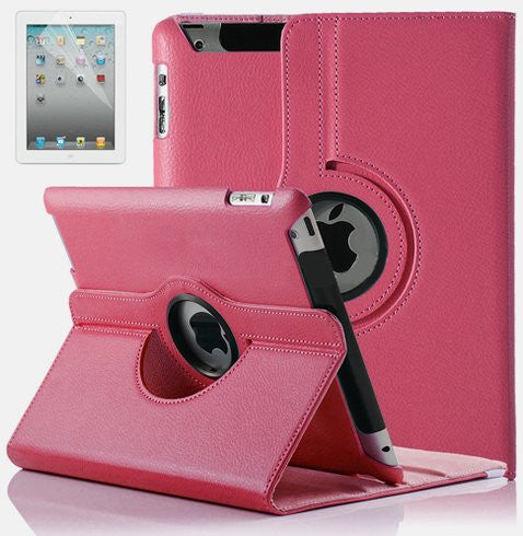 Leather iPad Case w/ 360° Swivel Stand - BoardwalkBuy