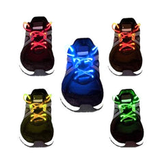 LED Waterproof Shoelaces - 3 Modes - Assorted Colors - BoardwalkBuy - 2