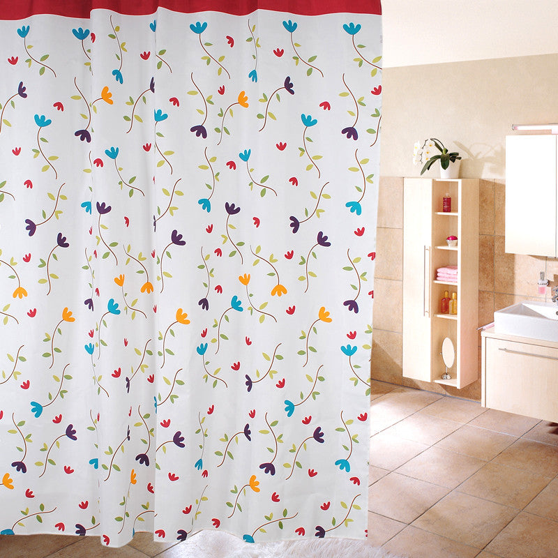 Waterproof Shower Curtain - Lanzhi Flower Design - BoardwalkBuy